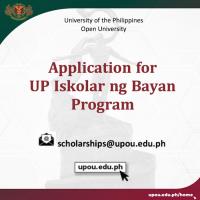 Call for Applications: UP Iskolar ng Bayan Program